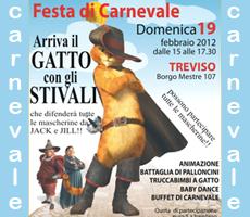 19-02-2012 – ore 15.00 – Festa di Carnevale per Bambini: Arriva il Gatto con gli Stivali!