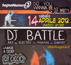 14-04-2012 – ore 21.30 – Do You Wanna Be a DJ PARTY