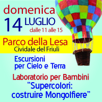 14-07-2013 – ore 11 – Laboratori per Bambini: Supercolori: Costruire Mongolfiere