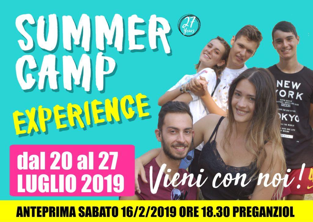 CAMPO ESTIVO  ESPERIENZIALE 2019