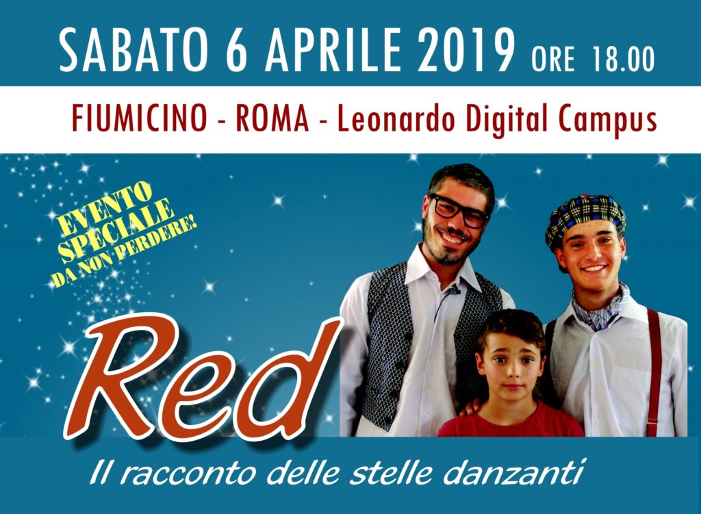 """SOGNO NUMERO2 DA TREVISO A ROMA PER PRESENTARE IL FILM MUSICALE """"RED, IL RACCONTO DELLE STELLE DANZANTI"""""""